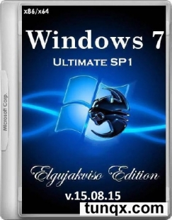 Windows 7 ultimate sp1 x86/X64 elgujakviso edition v.15.08.15 (2015/Rus)